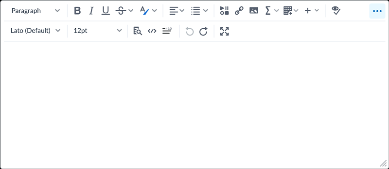 The new Brightspace Editor.